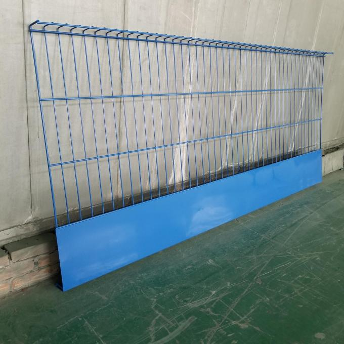 Edge Protection Steel Mesh Barrier with toe board housed
