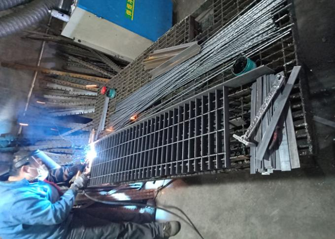 Standard Industrial Steel Grating / Round Stainless Steel Bar Grating