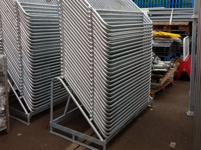 50 x Police Crowd Barrier / Met Barrier Metal Barrier