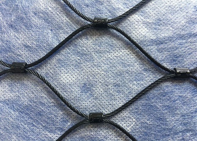 Black Oxidation Stainless Steel Cable Netting Wire Mesh Flexible Woven Type