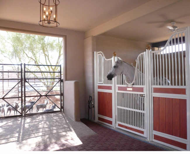 Interiors European Horse Stalls TGIC Polyester Powder Coated Finish