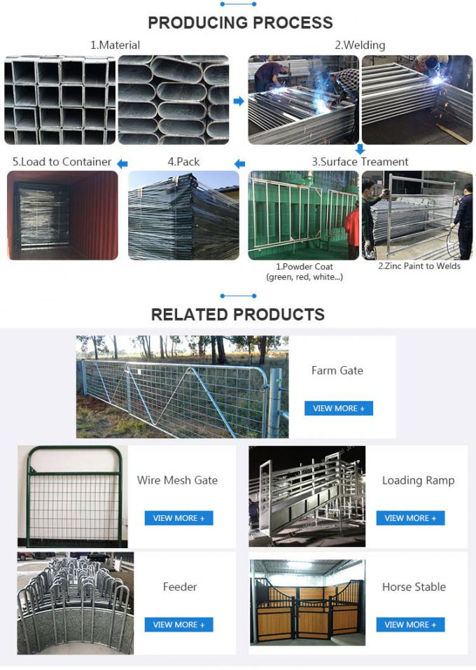 Cheap Price High Strength Hot Dip Galvanized or Powder Coated Cattle Feed Panel