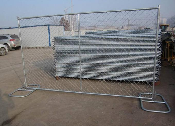 "Standard 8'x10' temporary chain link construction horading fence aperture2¼""(57mm) x2.7mm ga and 16ga wall thick x 42mm"