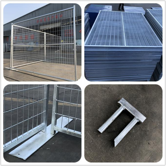 "2""/50mm tubing x 2.00mm frame  H6'/1830mm*9'W/2740mm canada  construction temp fence panels  4""x12""/100m*300mm*3mm dia"