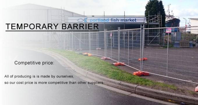 Temporary Fencing Auckland 2100mm x 2400mm width 42 microns hot dipped galvanized for sale NZ standard temp fencing