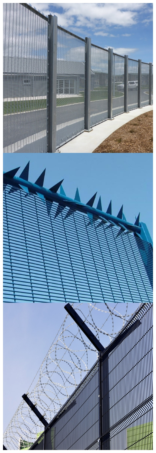 High Security Fence galvanized 358 Fence welded wire mesh panel fencing
