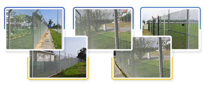 Wholesale cheap Airport Fence anti climb Wire Mesh 358 high security metal wire wall fence panels