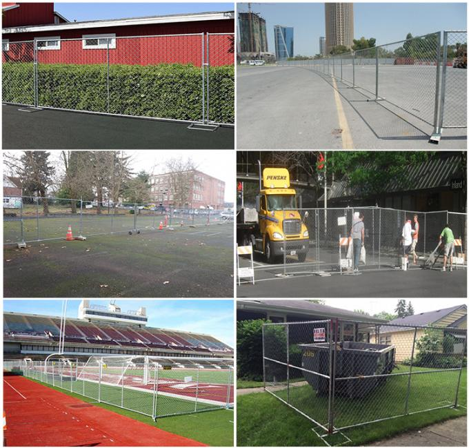 Removable Fence USA Standard Chain Link Temporary Fence Panels Sale