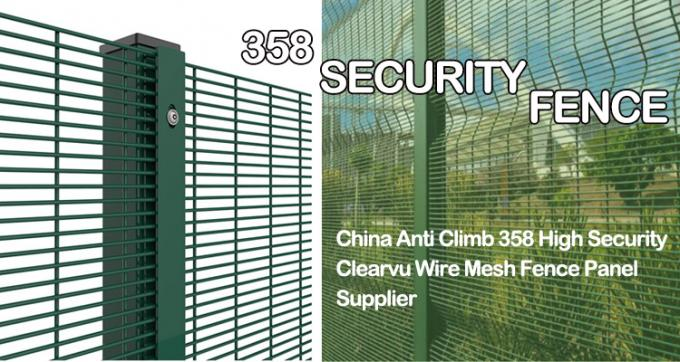 High Quality 358 Security Fence Prison Mesh South Africa Clearvu Fence High security fence