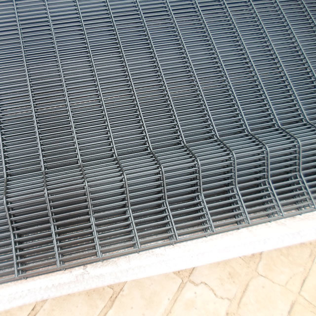 High Security Clear Vu Mesh Fence Panels / 358 Anti Climb Fence / Prison Fencing