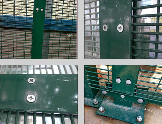 South Africa Clearvu Fence 358 Security Mesh Fencing / Security 358 Clearvu Anti Climb Prison Fences