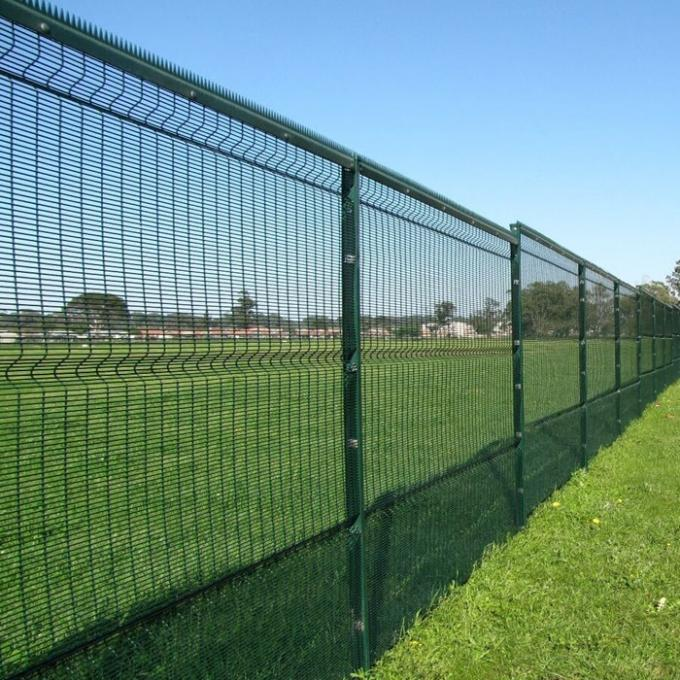 358 high security wire fence 12.7mm x 76.20mm diameter 3.00mm/4.00mm powder coated RAL 9001