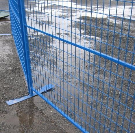 "Canada temporary Construction Fence H 6'/1830mm and W 9.6' /2950mm tubing 1""/25mm thick 1.5mm powder coated grey"