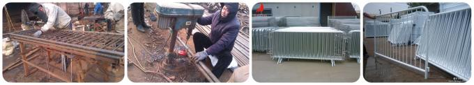 crowd control barrier welding and galvanized processing