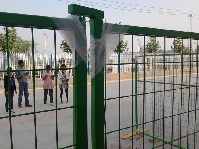 "H6'/1830mm*W9.5'/2900mm weld infill mesh2""*4""*9ga/3.60mm temporary construction fence panels powder coated blue"