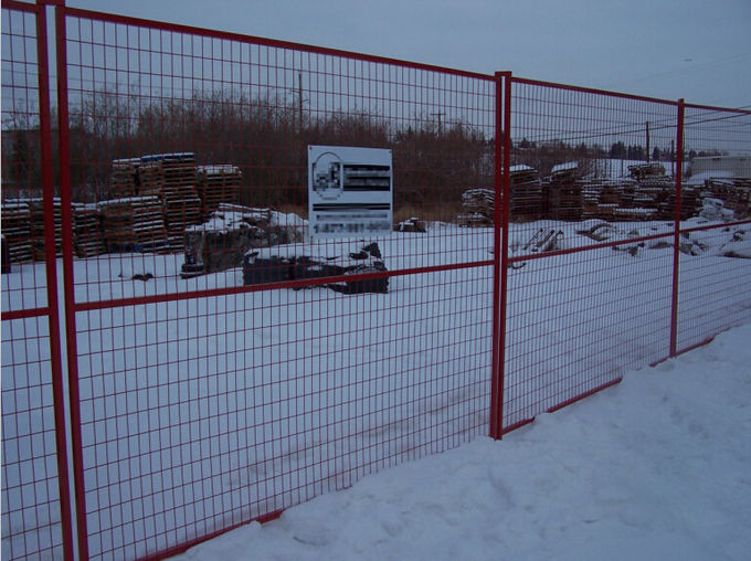 Temporary Construction Fences : Construction site temporary fence panels