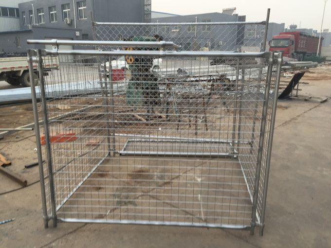 Galvanized Steel Wire Mesh Rubbish Cage construction site