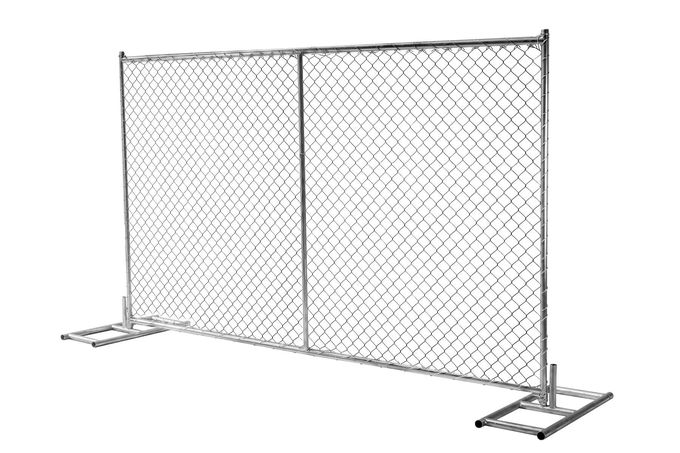 "1⅝""(42mm) Tubing Us standard chain link temporary fence panels 8'height 12'width mesh 2¼""x12.5ga/2.5mm"