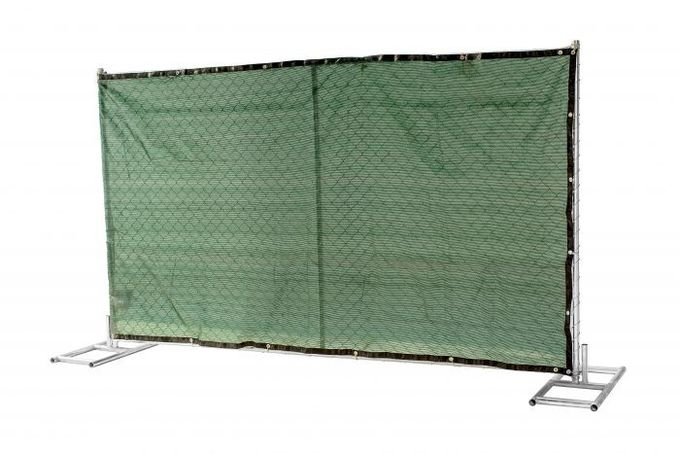 "6 foot x 12 foot chain link mesh temporary fencing panels with a 1 3/8"" x 16GA and 2-3/8 inch temp fence"