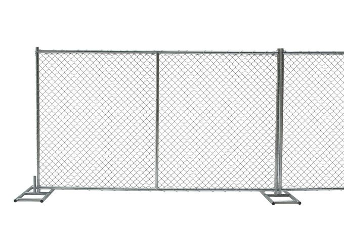 "6ft x 12ft/ 72inch x 120inch chain link temporary fencing  2"" x 2"" x 11 gauge wire chain mesh temp construction fence"