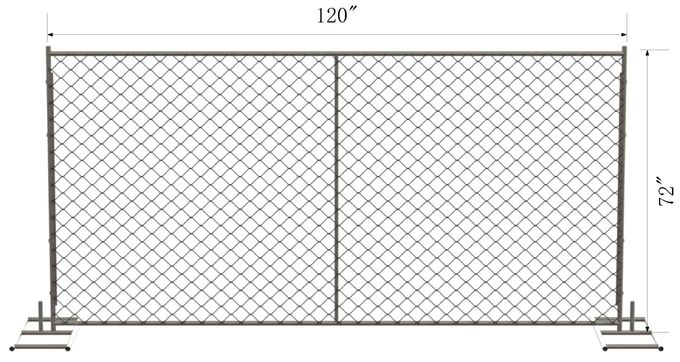 "6'x12' ,8foot x 12foot construction chain link fence panels  2⅜""x2⅜""(60mmx60mm) 2½""x2½""(63mmx63mm) Tubing 16ga x1⅝""42mm"
