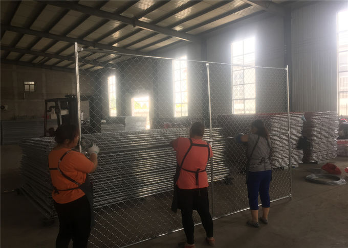 "6'x10' chain link temporary fence 1⅝""(42mm) HDG pipes x 16ga wall thick spacing 63mm x 63mm x 2.4mm diameter"