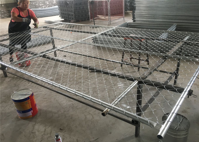 "8'H x 12'W Chain Link Temporary Fence Panel tubing 1⅝""(42mm) x 16 gauge thick Mesh spacing2½""x2½"" (63mmx63mm) x 12 gauge"