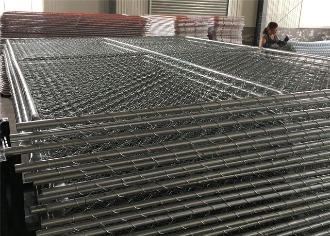 8 foot  x 10 foot chain wire temporary fence panels 2 -3/8 inch mesh x 11.5 ga wire chain link portable fence