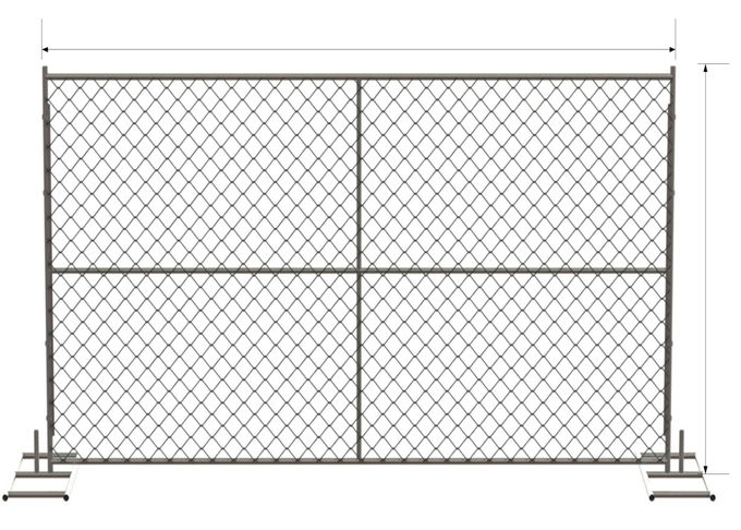 "8'x12' temporary construction fence panels tubing 1⅗""(40mm) 1⅝""(42mm) 1⅞"" mesh 60mm x 60mm x 2.7mm"