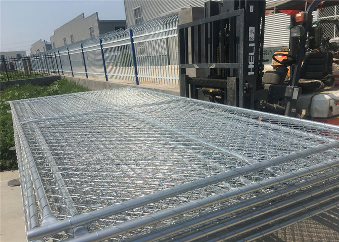 "1⅗""(40mm)*17GA Wall Thick Chain Fence panels Mesh2⅜""x2⅜""/60mmx60mm*11.5ga wire ASTM392-06 HDG steel construction fence"