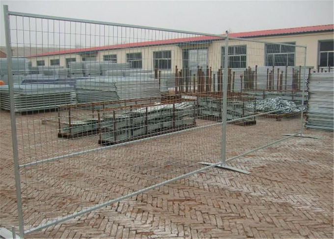 "Powder coated Weld mesh 2""x4""x8ga wire temporary construction fence 6'x9.5' outer tubing 50mm*50mm*1.5mm brace 30mm*30mm"