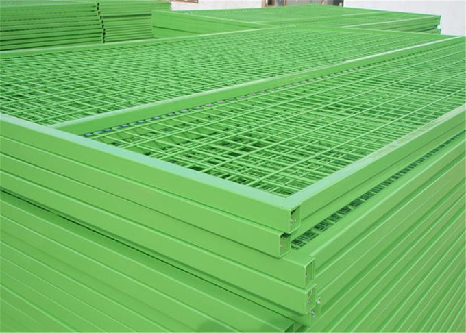 6'x9.5' mesh 2inch*4inch *9ga/3.60mm construction fencing panels tubing 25mm x1.6mm powder coated interpon brand