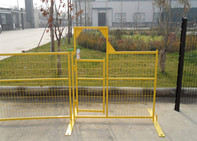 "Temporary Construction Fence Panels for Canada standard 6'x9.5' 8'x9.5' mesh spacing4""x12' x 9 gauge wire"