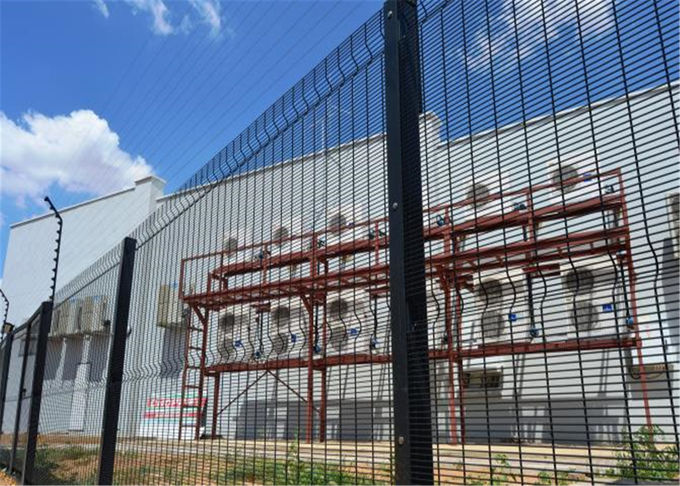 Clearvu Security Fencing Panels Height2100mm*Width2515mm Mesh 12.7mm*76.2mm*3.5mm diameter Pr-galvanized Powder Coated