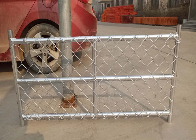 "6X12 temporary chain link fence panels tube 1⅝""(42mm) x14ga 2.0mm mesh 60.3mmx60.3mm"