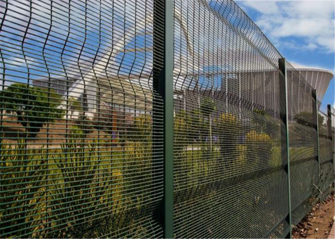Mesh 358 Security Fence Panel 2.1m High x 2515mm Powder Coated Green,Black ,Yellow Etc