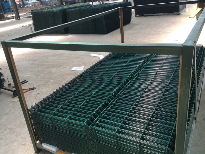 2030mm x 2500mm Wire Fence Panels High Quality With V beams ,RAL 6005 coated Dark Green