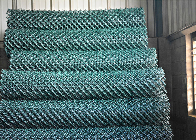 "1.2 oz/sq ft (366 g/ sq meter) 8ft height chain link fabric mesh 2""x2"" x11ga/2.95mm dia  commerical  hurricane fence"