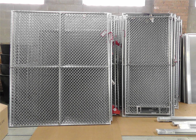"''Genius Youth"" 6ft x 12ft temporary chain link fence 1 5/8"" tube thick 16ga chain mesh 2.25"" x 2.25"" TOPFE/57mm x 57mm"
