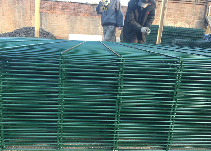 Pvc coated twin wire 656 fence panel/Double rod welded wire fence, twin wire fence, double bar fence