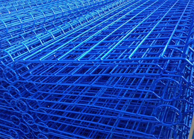 galvanized ornamental double loop wire fence powder coated Blue To Russia