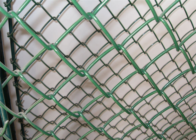 Professional Chain Link Fence cyclone wire fence roll 1.22m x 25m standard roll color green