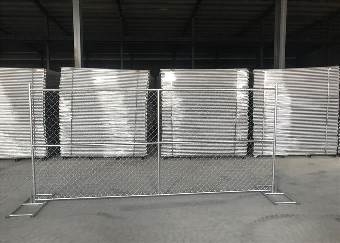 6'X12' temporary fence panels in chain wire mesh 60mm x 60mm diameter 2.70mm tube 1.25inch with1.8mm wall thick