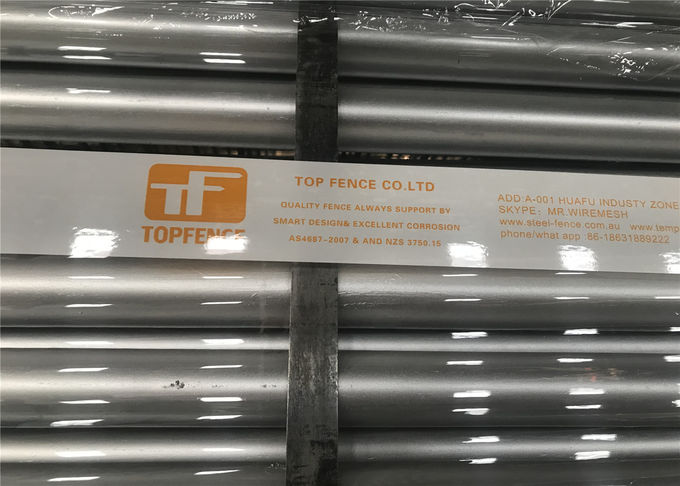 RAL 2009 Interpon powder coated temporary fencing panels OD 28mm x 2.1m x 2.5m panels size meet AS4687-2007