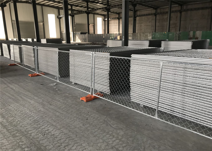 "Temporary Construction Fencing Panels 1-⅜"" tube vertical brace Chain Link Fence Panels 6'/8'/4' Height"