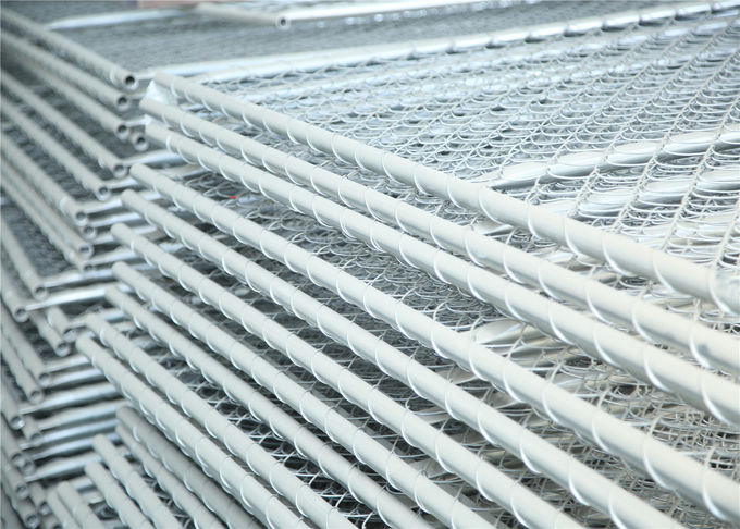Chain Mesh Construction Wire Fence Panels OD 33.2mm wall thick 1.5mm Mesh 60mmx60mm Diameter 2.7mm