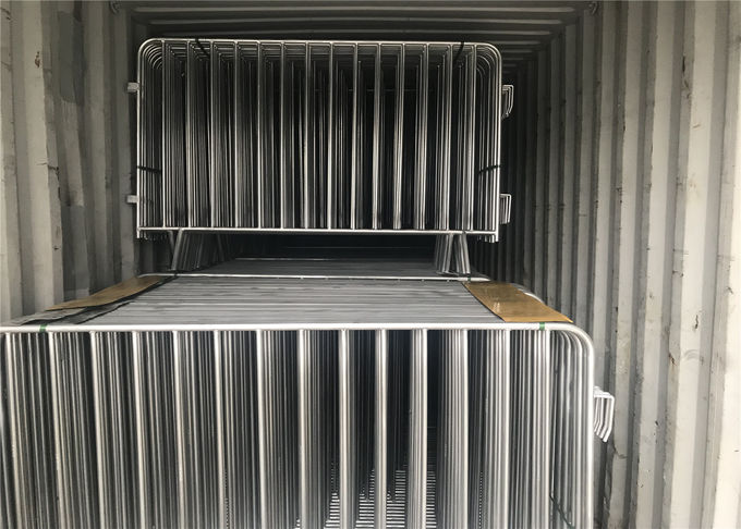 Hot Dipped Galvanized Crowd Control Barriers 1090mm x 2500mm 14 microns hdg pre-galvanized cold zinc painted at welds