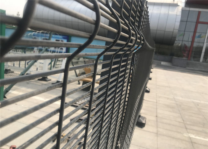358 wire fence panels /clearvu fencing africa 2200mm*2515mm diameter 4.00mm horizontal wire and 3.00mm wire