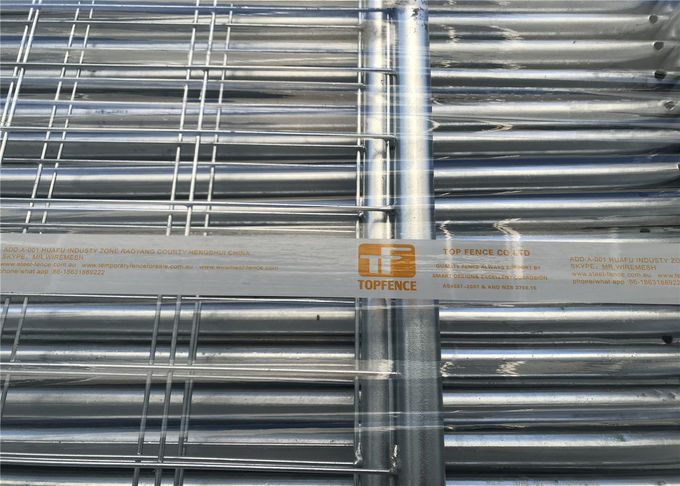Hot Dipped Galvanized Temporary Fencing Panels 32mm tube wall thick 2.00mm inside and outside zinc coated