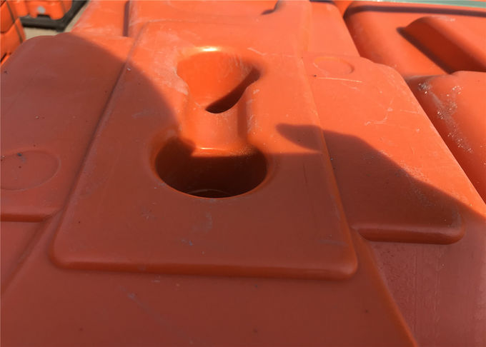 HDPE temporary fencing base 43mm available any color orange blue and violet all molding design UV 10 level